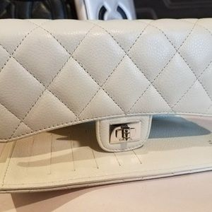 Authentic Chanel Beige Quilted Bi-fold Wallet